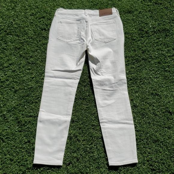 NEW J Crew Mercantile White Denim Skinny Jeans 28